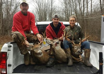 The other bucks taken by the boys opening day...mines bigger! :)